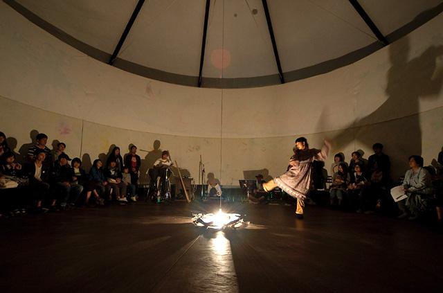 「花灯」音と光のパフォーマンスイメージ